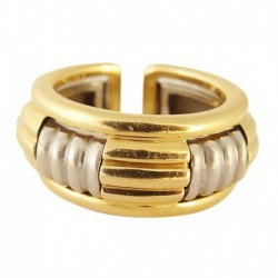 Vintage Boucheron Ring French 18k White and Yellow Gold Two Part Ring (ID:5318)