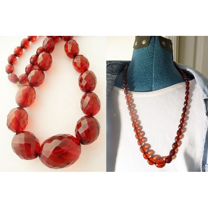 Antique Victorian Amber Necklace