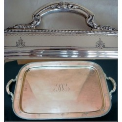 ANTIQUE ST SILVER TRAY GORHAM WEIGHS 12lbs (ID:3715)