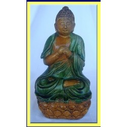ANTIQUE CHINESE MING DYNASTY CERAMIC BUDDHA (ID:4302)