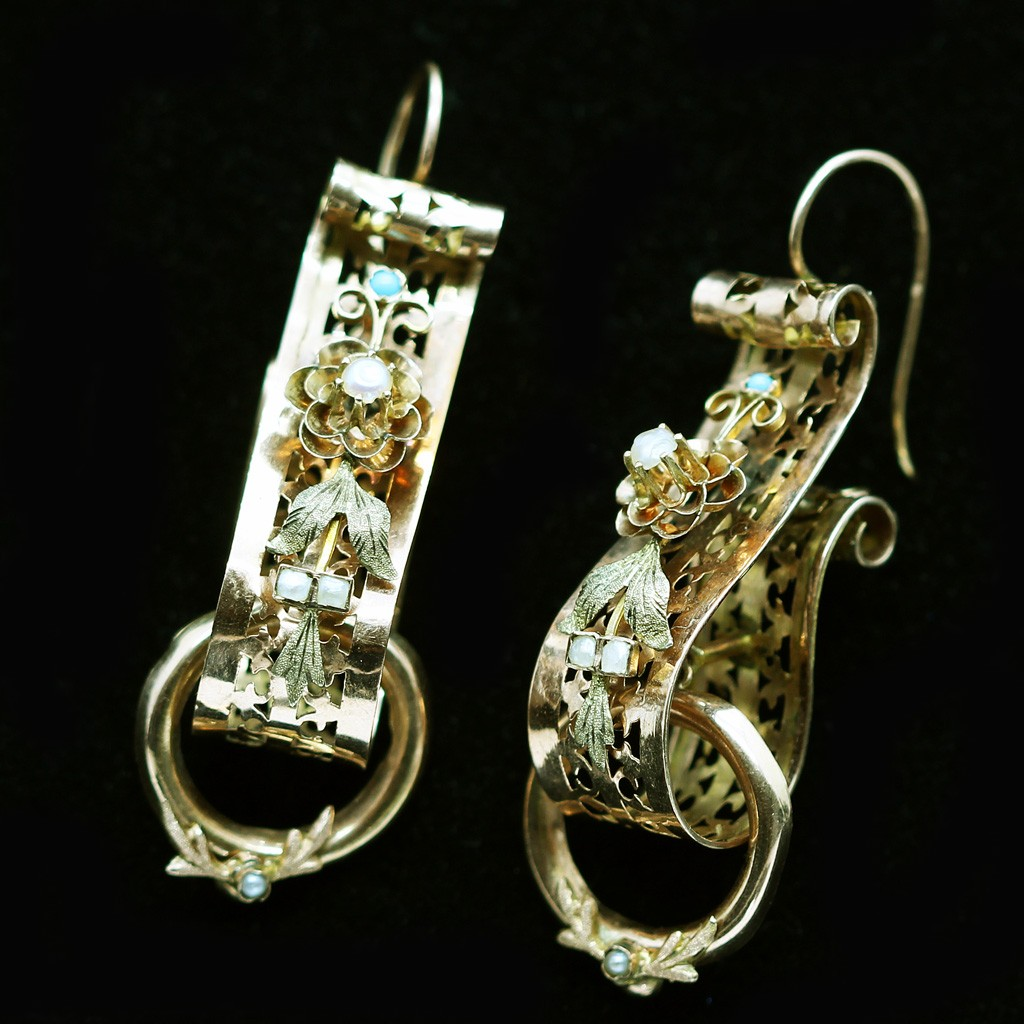 earrings diamond gold in natural and product cultured victorian pearl antique silver store