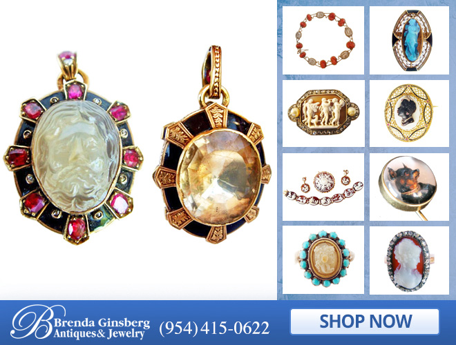 Antique Cameo Jewelry in and near Boca Raton FL