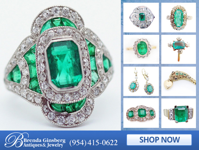 Antique Emerald Jewelry in and near Boca Raton FL