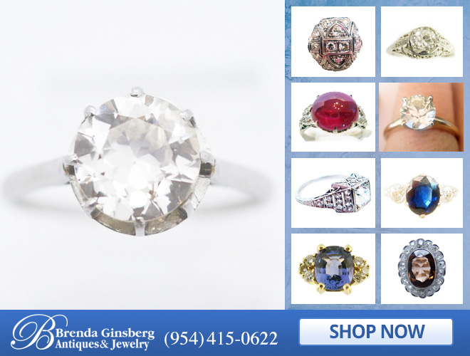 Antique Engagement Jewelry in and near Miami FL