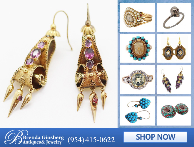 Antique English Jewelry in and near Miami FL