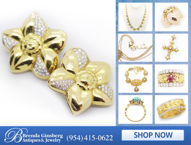 Antique Gold Jewelry in and near Miami FL