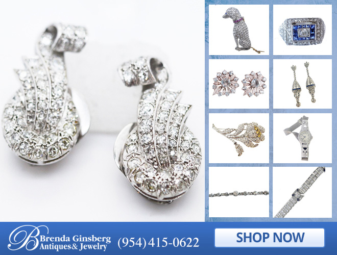 Antique Platinum Jewelry in and near Miami FL