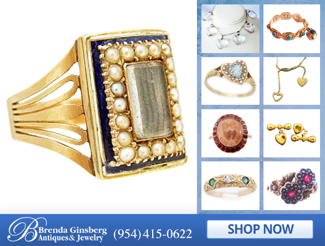 Antique Romantic Jewelry in and near Miami FL