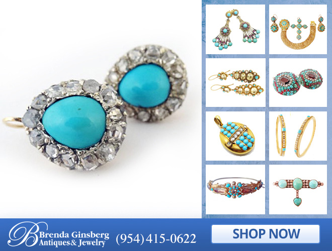 Antique Turquoise Jewelry in and near Miami FL