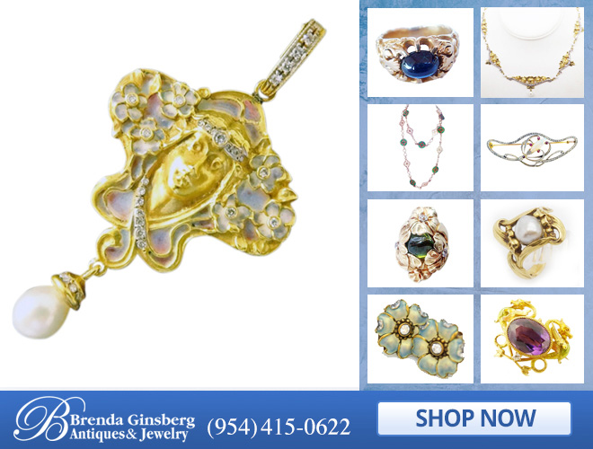 Art Nouveau Jewelry in and near Miami FL