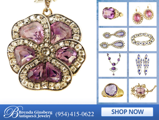 Antique Amethyst Jewelry