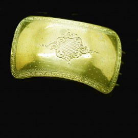 Antique Victorian Hair Clip Pinchbeck Gold French Hair accessory (6758)