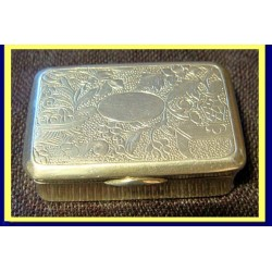 Antique Chinese Export Silver Snuff Box Signed MK (4747)