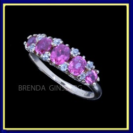 Antique RIng Gold Diamond Ruby Victorian RIng (4093)