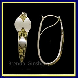 Antique Georgian Poissarde Earrings 18k Fold French late 18th-early19th C (7036)
