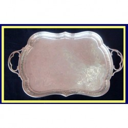 Antique Russian Chased Silver Tray P Milyukov Moscow 1893 (4851)