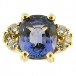 Ring Tanzanite Diamonds Gold w GIA Certificate Engagement Wedding Ring (ID:5498)