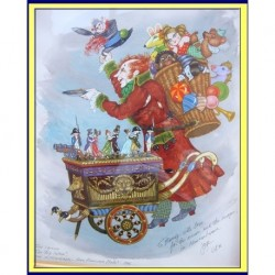 STAGE COSTUME DESIGN PAINTING NUTCRACKER TOYSELLER BALLET  (ID:4075)
