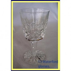 13 SIGNED WATERFORD CUT SHERRY WINE GLASSES (ID:4245)
