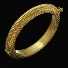 Antique Victorian Bangle Bracelet 22k Gold - Heavy 29.8grams Indian (3930)