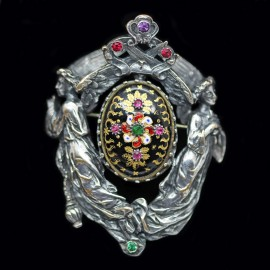 Antique Renaissance Revival Neo Gothic Brooch Froment-Meurice Wiese (6214)