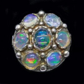 Antique / Vintage Ring 14K Rainbow Jelly Opal Ring Early 1900's (ID:5973)
