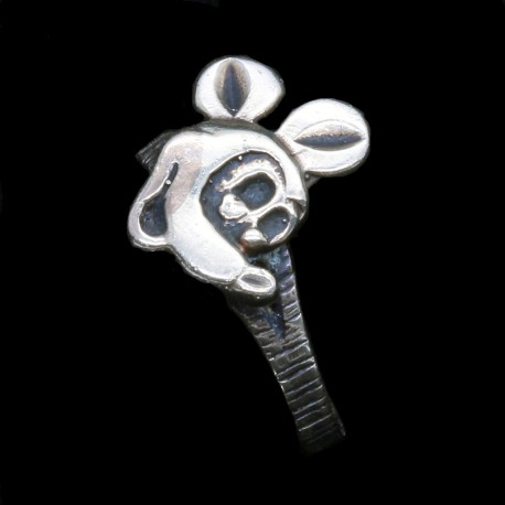Vintage Mickey Mouse Pinky or Child 's Gold Ring Made Circa 1930 - 1940 (5015)
