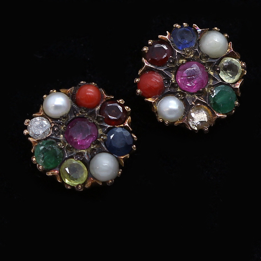 navaratna earrings