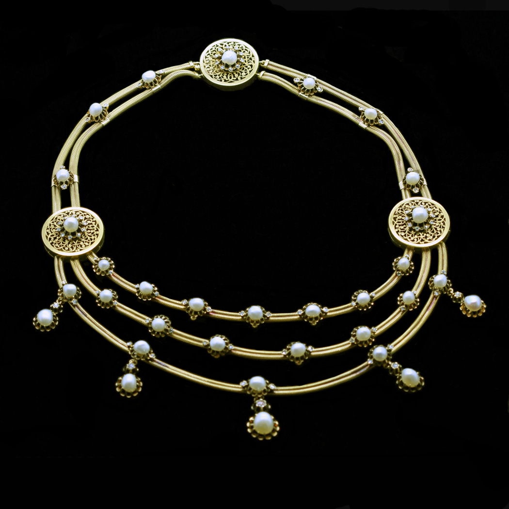 French antique necklace